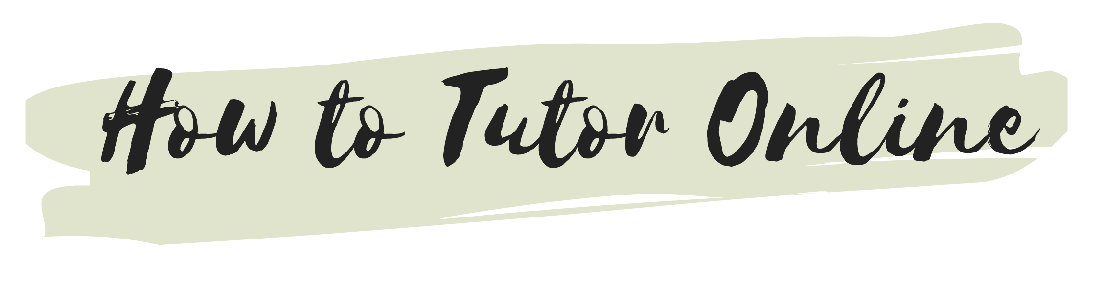 How To Tutor Online